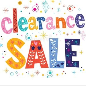 Clearance Sale. All Winter items must go!!